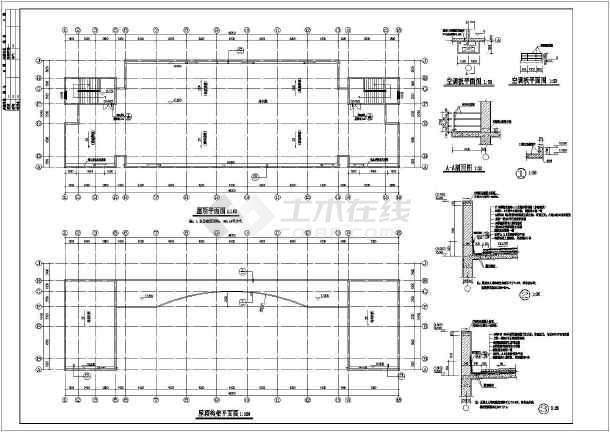 柳州市某小学行政楼建筑设计图