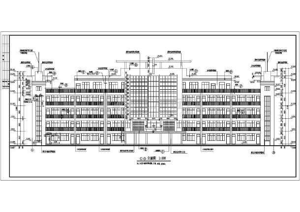 芜湖市荟萃中学3#5层框架结构教学楼建筑施工图