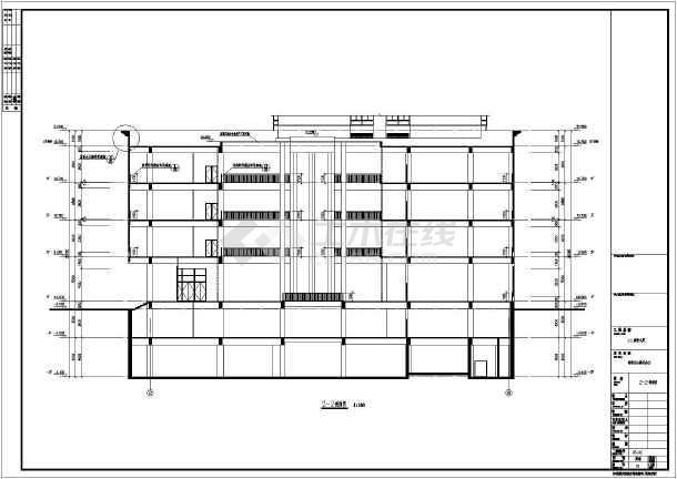 【上海】二十四层框架剪力墙结构商务大厦建筑施工图