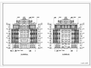 【哈尔滨】五层新古典小型图书馆建筑施工图