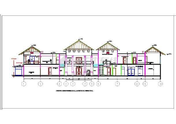 别墅别墅建筑设计施工图(英文版本)总统图片欣赏花园图片