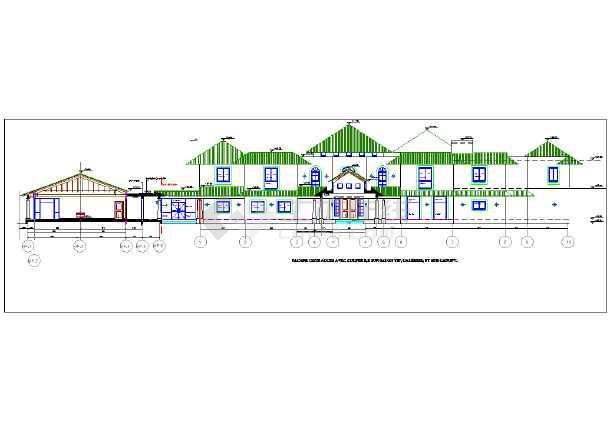 版本别墅建筑设计施工图(英文别墅)总统床棕色图片