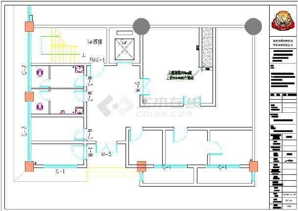 某商用厨房水,电排烟设计方案图纸