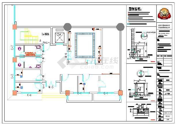 某方案图纸水、电排烟施工图纸图纸_cad厨房设计免费下载停车场商用图片