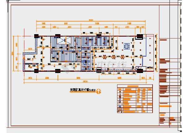 某现代精品蛋糕店室内装修施工图(含效果图)图片1