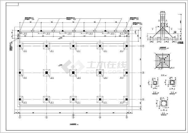 图纸 建筑结构图 结构构造图纸 水池构造图 某冷却塔水池混凝土结构
