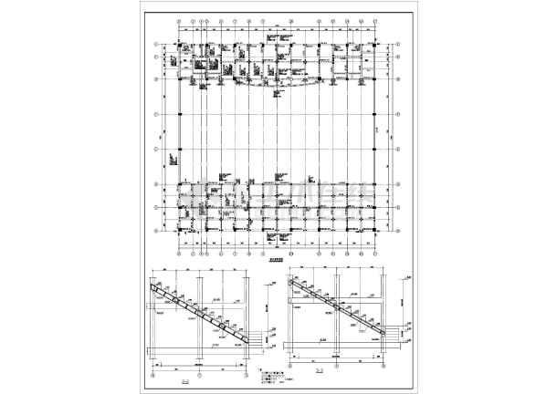 某中学体育馆框架结构设计施工图纸图片