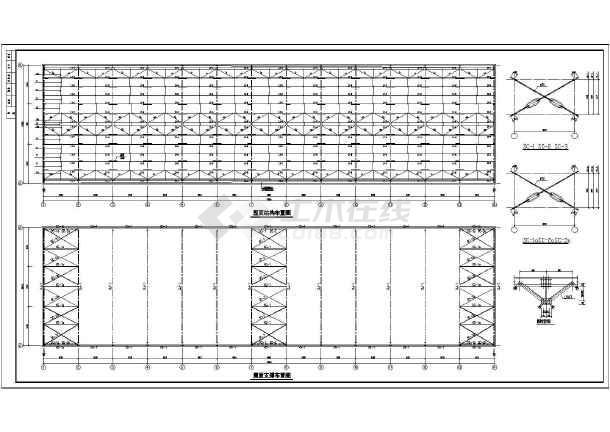 江苏某20米跨门式刚架厂房结构设计施工图