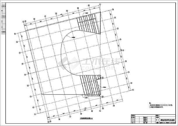 某大图纸钢结构轻质工程(彩钢板)屋面施工图_纸板剧院vr拼装谷歌图片