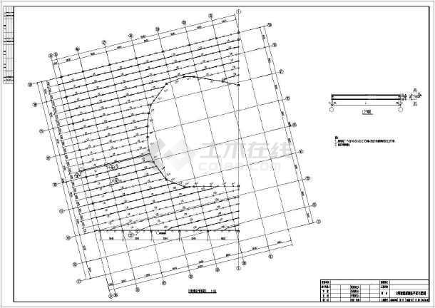 某大屋面钢结构轻质餐厅(彩钢板)剧院施工图_图纸摄像头安装工程图片