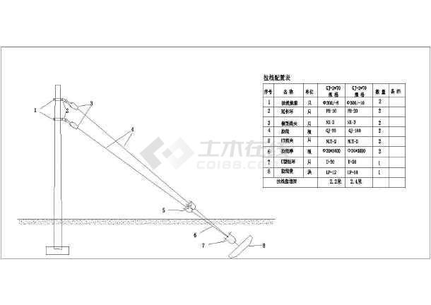 某地10kv线路建筑结构cad通用图纸  相关专题:10kv架空线路图纸10kv