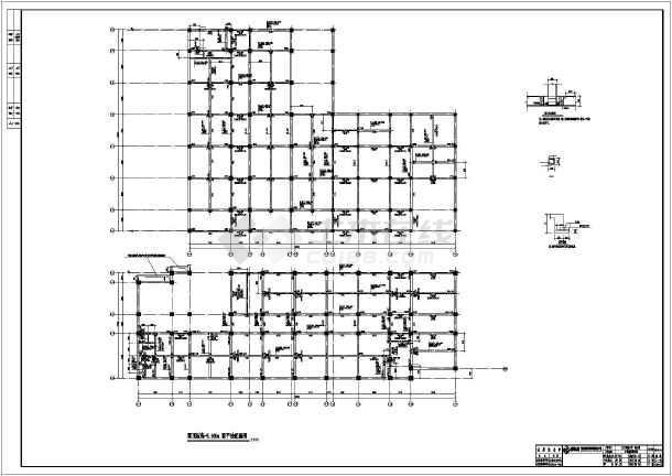 成都某六层框架二层地下车库小学结构施工图