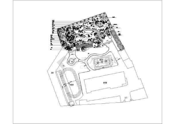 景观规划设计 校园景观规划设计图 某幼儿园绿化工程规划施工说明图纸