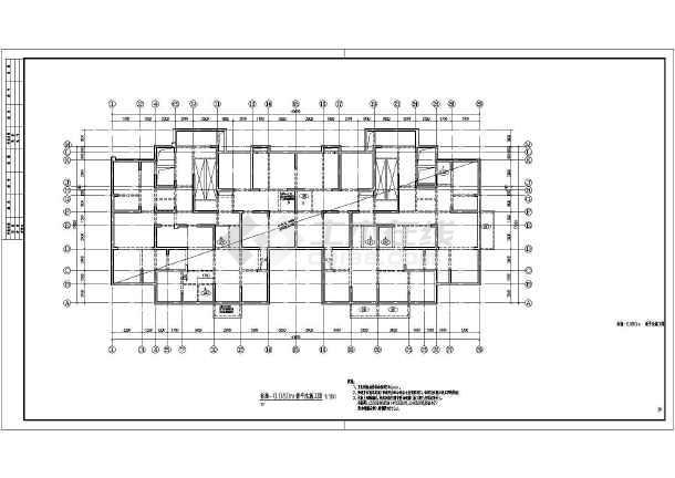 33层剪力墙结构局部错层住宅结构施工图