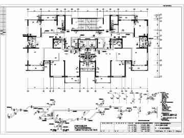 青岛某二十八层住宅建筑给排水设计图纸