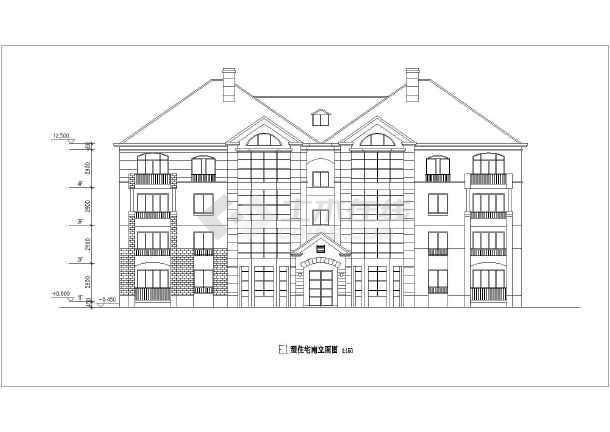 某地住宅小区各种户型建筑设计方案图纸