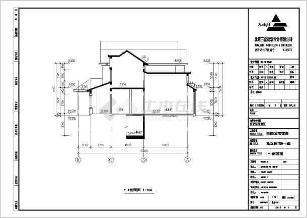 某地二层框架结构欧式别墅建筑方案图