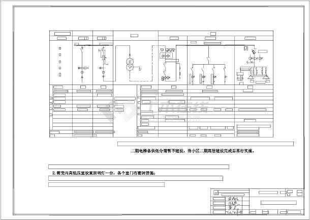 金都小区一期配电工程线路和内部配电设计
