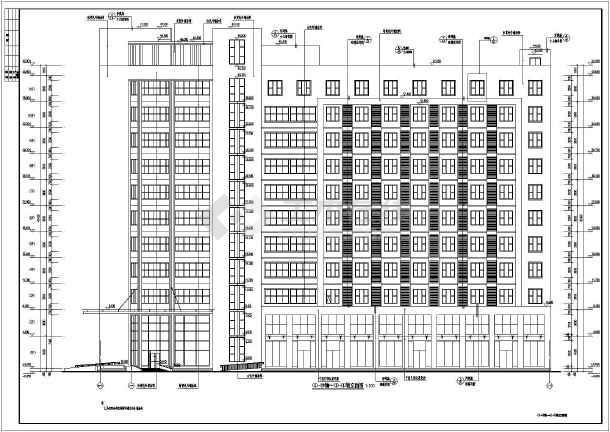 周口市某公司十一层框架结构办公楼建筑施工图