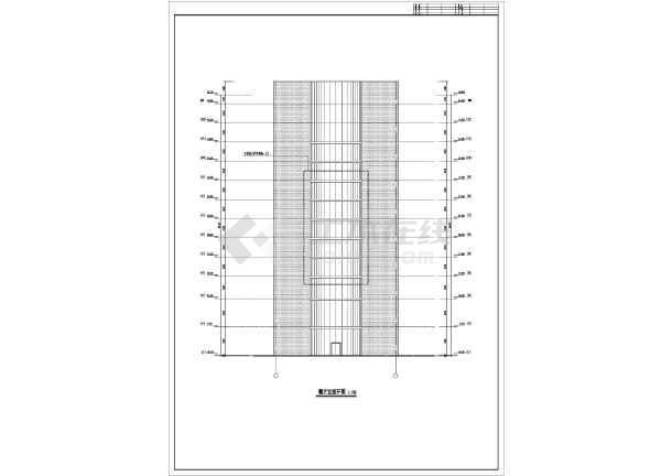 某地12层框架核心筒结构酒店建筑方案设计图纸