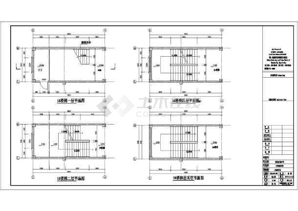 新蔡县四层框架结构教学楼建筑设计施工图