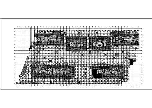 某地板柱式地下车库结构施工图