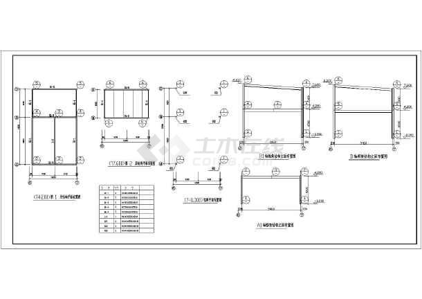 4s店框架结构本田展厅结构设计施工图