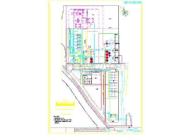 某厂给排水及消防设计综合管线图纸