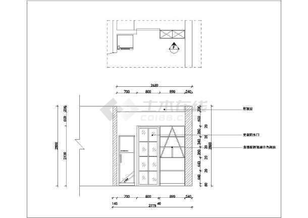 家装设计 三室两厅装修图 简约风格三室两厅室内设计全套图纸(水电)