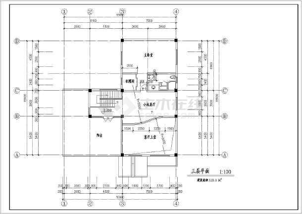 某三层别墅建筑设计图(长16米 宽15.9米)
