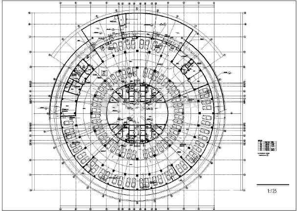 圆形花坛设计平面图