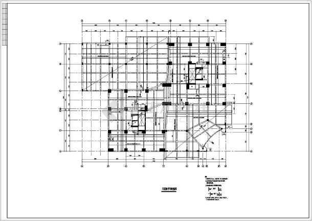 某框支剪力墙大厦结构设计图纸(带计算书)