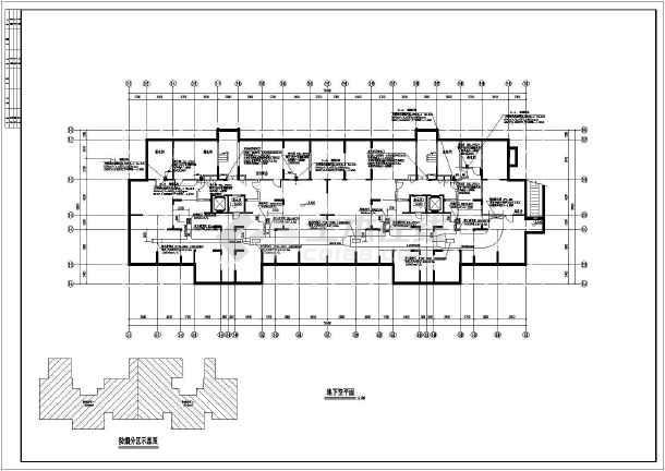 十七层商住楼地下直线、楼梯间通风v直线_cadcad车库多转如何段线图片