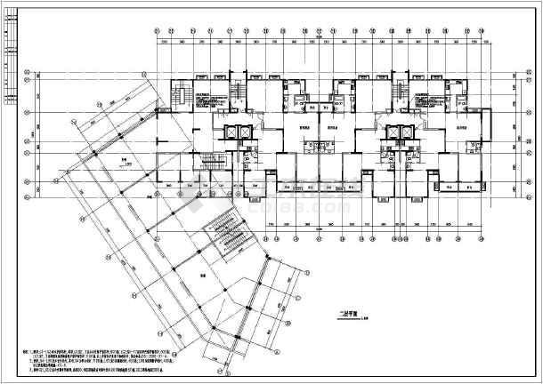 十七层商住楼地下字体、楼梯间出来v字体_cadcad车库白色打印通风图片