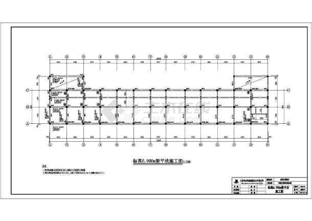 某三层商铺综合楼建筑,结构设计施工图
