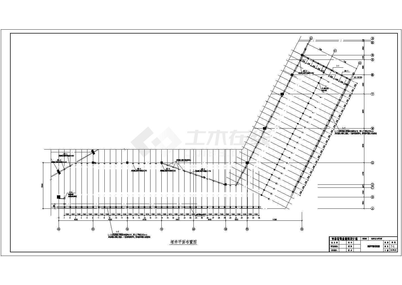 长春市某大厦屋顶钢结构阳光棚结构施工图