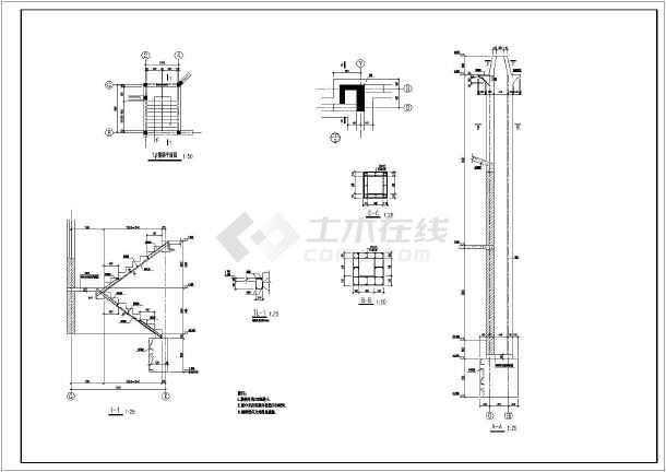 某地全套别墅结构别墅砌体结构施工图二层成都移动式图片