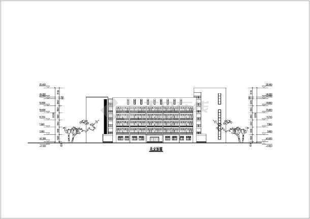 某地六层框架结构综合教学楼建筑设计方案图