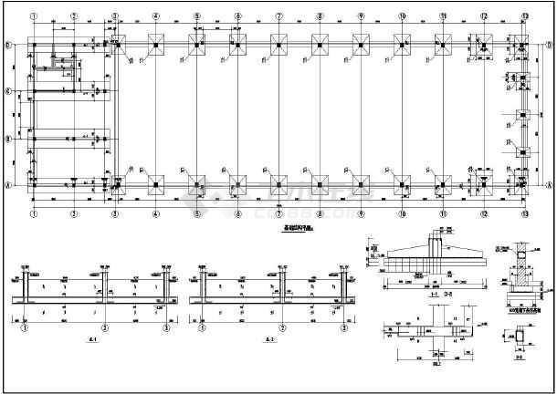 图二层别墅施工图纸厂房钢屋架施工图梯形屋架施工图