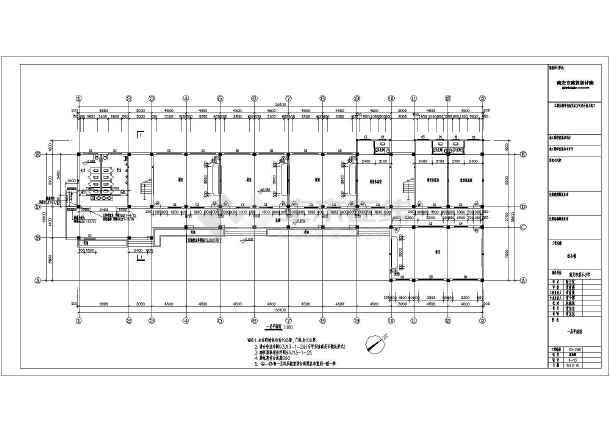 南安市某地五层框架结构教学楼建筑设计施工图纸