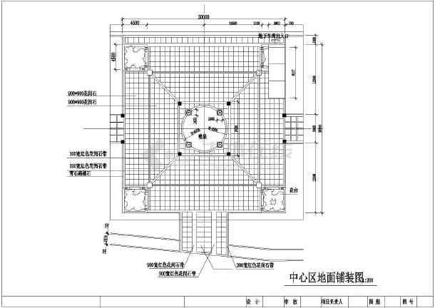 江西某镇小公园全套景观设计施工图纸
