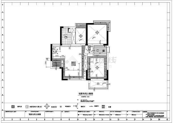 某地住宅小区两室一厅房屋装修设计施工图