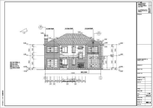 宁波某二层框架结构别墅楼建筑设计施工图