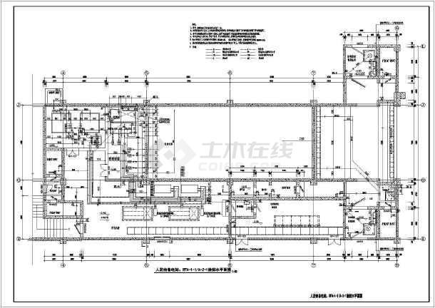 地下图纸护栏给排水喷淋消火栓平面图_cad图的上看出高程工程人防怎么v图纸图片