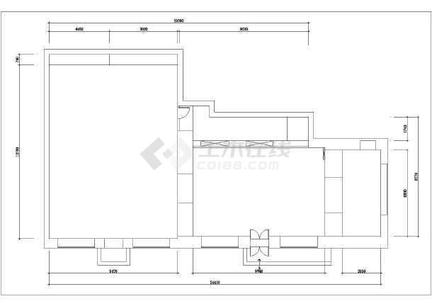 【哈尔滨】某地小区售楼处装修设计施工图纸-图1