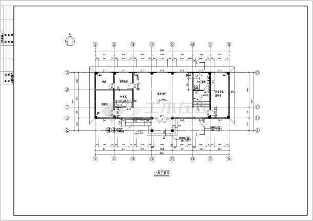 某农村二层村委办公楼建筑设计方案图纸