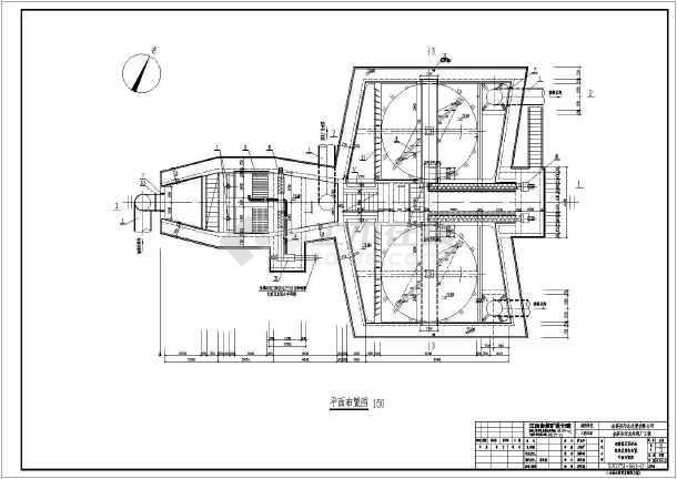 污水厂细格栅及沉砂池配管及设备布置图