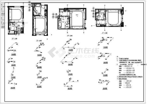 某大样的卫生间给排水详细图纸意思_cad宾馆建筑图纸c10-86啥图纸图片