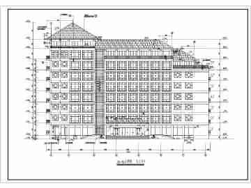 某地区7层坡屋顶办公楼建筑设计方案