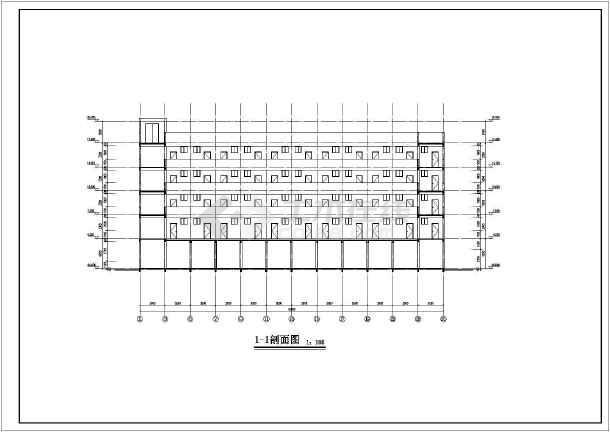 某服装厂五层宿舍楼建筑设计方案图